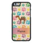 Patas conocidas personalizadas del arco iris del funda de iPhone 6 carved® slim de arce