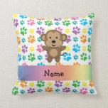 Patas conocidas personalizadas del arco iris del almohada