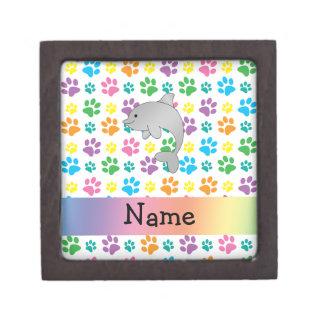 Patas conocidas personalizadas del arco iris del d cajas de regalo de calidad