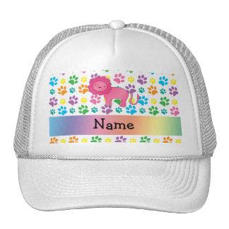 Patas conocidas personalizadas del arco iris del l gorras de camionero