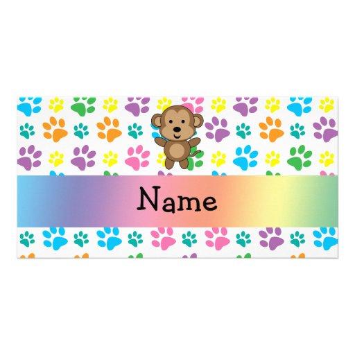 Patas conocidas personalizadas del arco iris del m tarjetas personales