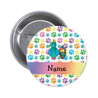 Patas conocidas personalizadas del arco iris del p pin
