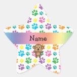 Patas conocidas personalizadas del arco iris del calcomanías forma de estrella personalizadas