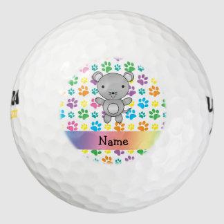 Patas conocidas personalizadas del arco iris del pack de pelotas de golf