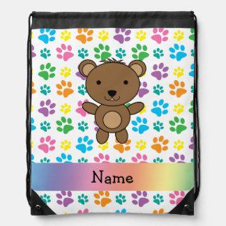 Patas conocidas personalizadas del arco iris del mochilas
