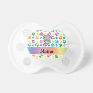 Patas conocidas personalizadas del arco iris del r chupetes de bebé