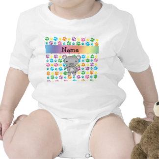 Patas conocidas personalizadas del arco iris del r camiseta