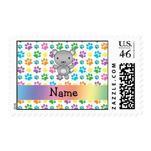 Patas conocidas personalizadas del arco iris del r sello