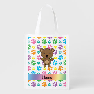 Patas conocidas personalizadas del arco iris del bolsas de la compra
