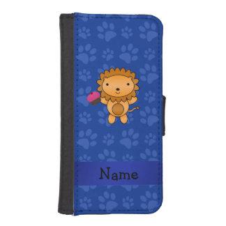 Patas conocidas personalizadas del azul de la magd cartera para teléfono