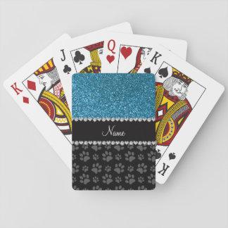 Patas conocidas personalizadas del negro del cartas de juego