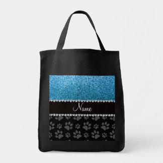Patas conocidas personalizadas del negro del brill bolsa