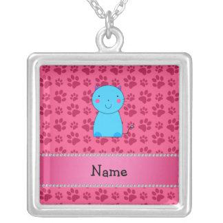 Patas conocidas personalizadas del rosa del gato a pendiente