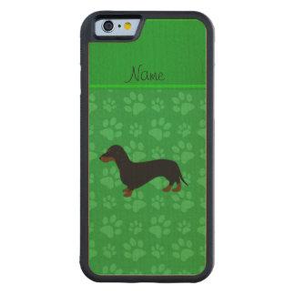 Patas conocidas personalizadas del verde del funda de iPhone 6 bumper arce