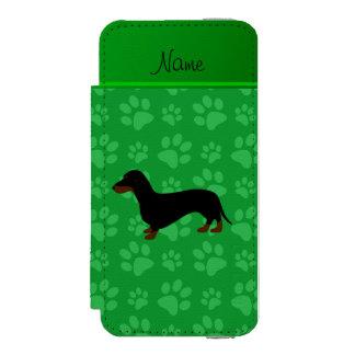 Patas conocidas personalizadas del verde del funda cartera para iPhone 5 watson