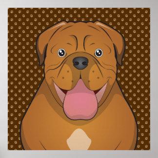 Patas de Dogue de Bordeaux Cartoon