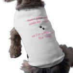 patas de la camiseta del mascota para sin llamar p ropa para mascota