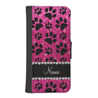 Patas de neón conocidas de encargo del perro negro billetera para iPhone 5