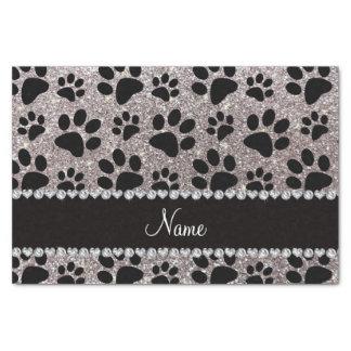 Patas de plata conocidas de encargo del perro papel de seda pequeño