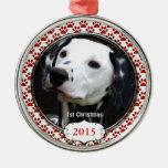 Patas de plata del perro mis primeros ornamentos d ornamentos de reyes