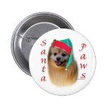 Patas de Pomeranian Santa - botón