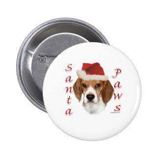Patas de Santa del beagle Pin Redondo De 2 Pulgadas
