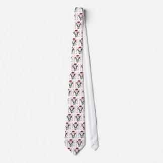Patas de Santa del Dalmatian (negro) Corbatas Personalizadas