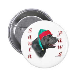 Patas de Santa del labrador retriever (negro) Pin Redondo De 2 Pulgadas
