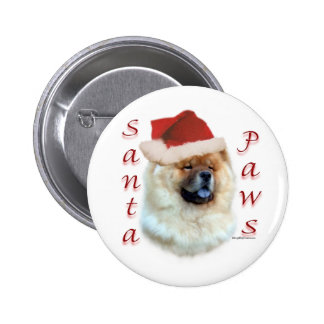 Patas de Santa del perro chino de perro chino - bo Pin Redondo De 2 Pulgadas