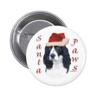 Patas de Santa del perro de aguas de saltador ingl Pin Redondo De 2 Pulgadas