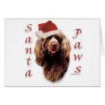 Patas de Santa del perro de aguas de Sussex Felicitaciones