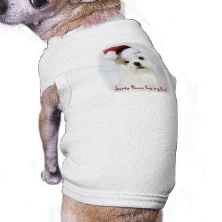 Patas de Santa Camiseta De Perrito
