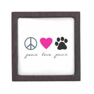 Patas del amor de la paz cajas de regalo de calidad