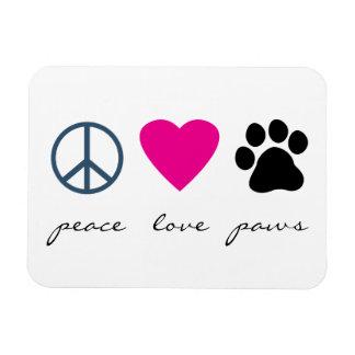 Patas del amor de la paz iman flexible