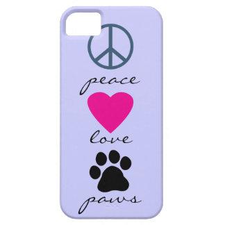 Patas del amor de la paz iPhone 5 carcasas