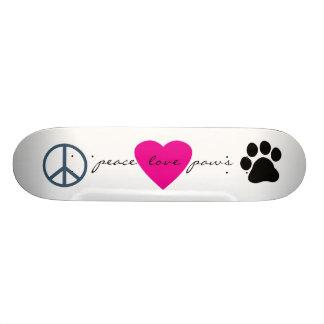 Patas del amor de la paz patín