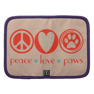 Patas del amor de la paz planificadores