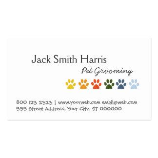 Patas del animal de mascotas del arco iris plantilla de tarjeta personal