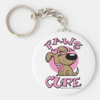 Patas del cáncer de pecho para el perro de la cura llavero redondo tipo pin