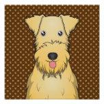 Patas del dibujo animado de Lakeland Terrier Impresiones Fotograficas