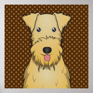 Patas del dibujo animado de Lakeland Terrier Póster