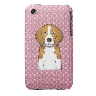 Patas del dibujo animado del beagle iPhone 3 fundas