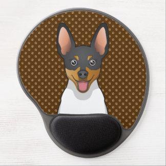 Patas del dibujo animado del fox terrier del alfombrillas de ratón con gel