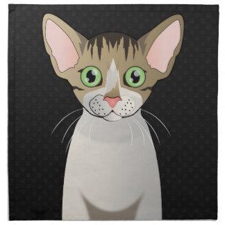 Patas del dibujo animado del gato de Devon Rex