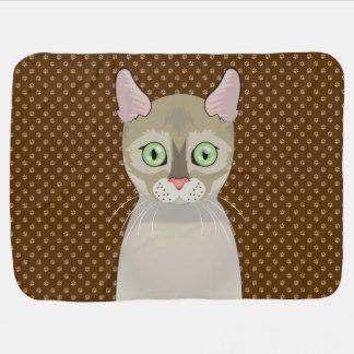 Patas del dibujo animado del gato de Singapura Manta De Bebé