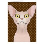 Patas del dibujo animado del gato de Sphynx Tarjeta