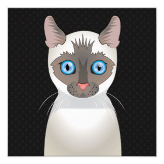 Patas del dibujo animado del gato siamés impresión fotográfica