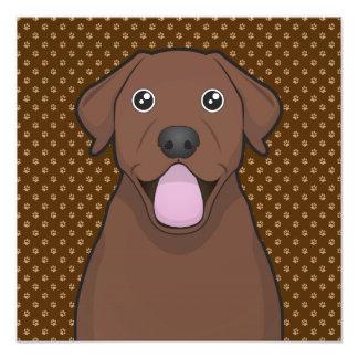 Patas del dibujo animado del labrador retriever (l impresión fotográfica