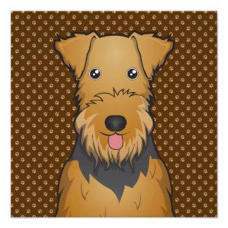 Patas del dibujo animado del perro de Airedale Ter Impresión Fotográfica