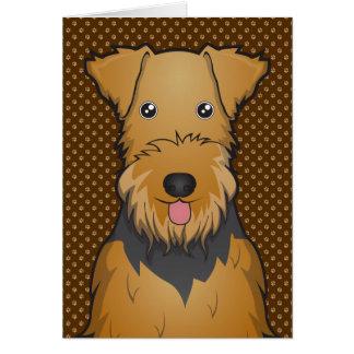 Patas del dibujo animado del perro de Airedale Ter Tarjetón